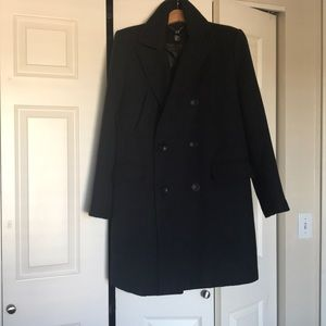 dark blue, double breasted peacoat size 38